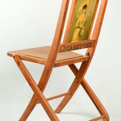 Folding Chair Auction Black Covers Ebay Lot Detail Dukes Cigarettes Advertising