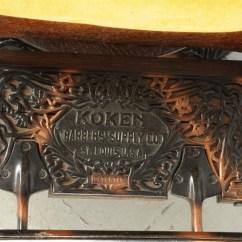 Koken Barber Chair Headrest Leopard Accent Lot Detail Hercules