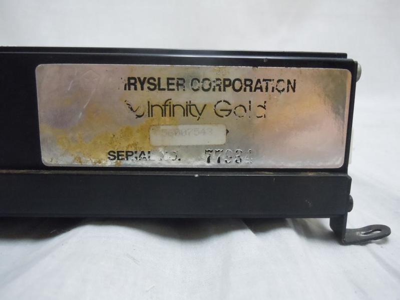 Cherokee Gold Infinity Chrysler Factory Amplifier 56008993 Ebay