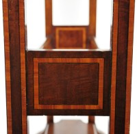 Antique Inlaid Mahogany Quilt Rack Blanket Stand Wood ...