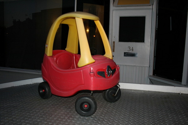Little Tikes Cozy Coupe Red Yellow Push Renault Scenic Car