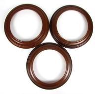 3 Van Hygan & Smythe Round Wood Decorative Collector Plate ...