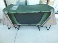 Cabela DELUXE Tent Cot SINGLE Green - Used Once | eBay