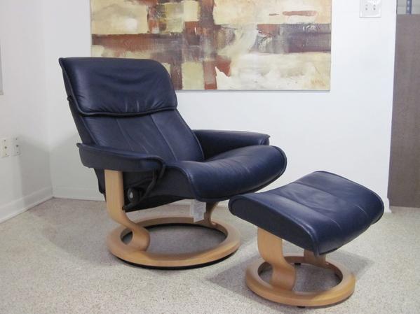 Ekornes Stressless Recliner Chair Leather Modern LARGE