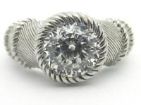 Judith Ripka 2Ct 100-Facet Diamonique Solitaire Ring ...