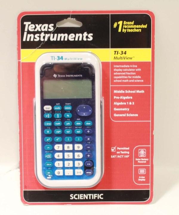 Texas Instruments Ti 34 Multiview Scientific Calculator