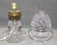 RARE! Antique Waterford Cut Crystal Electric Hurricane