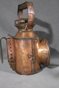 Antique 19thC Kerosene British Railways Railroad Copper ...