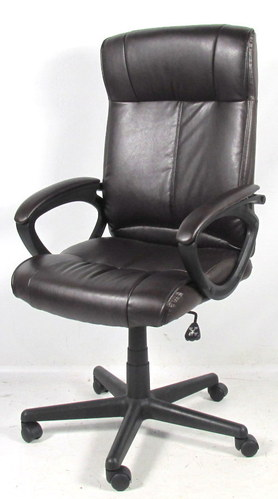 staples turcotte chair brown dining seat covers ikea all about luxura high back office www managers