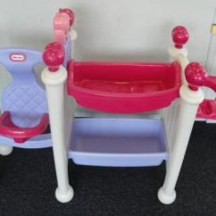 Little Tikes Chairs Large Accent Baby Doll Nursery Center Swing Bath Table | Ebay