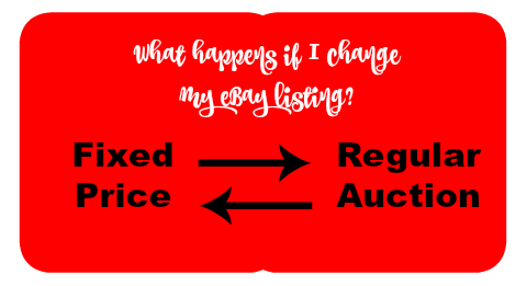 What Is The Impact Of Changing an Item From Auction To Fixed Price?