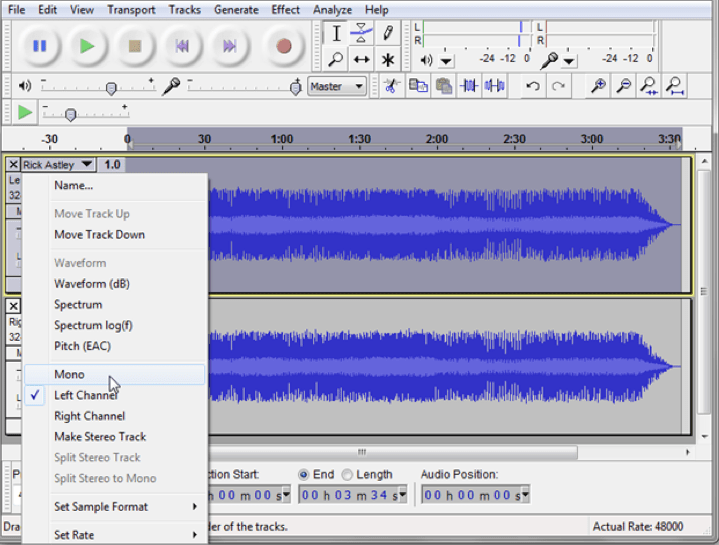 Removing Vocals from Music Tracks Using Audacity - Audacity