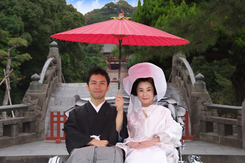 鶴丘八幡宮の結婚写真