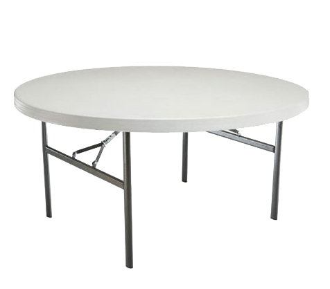 Table ronde plastique