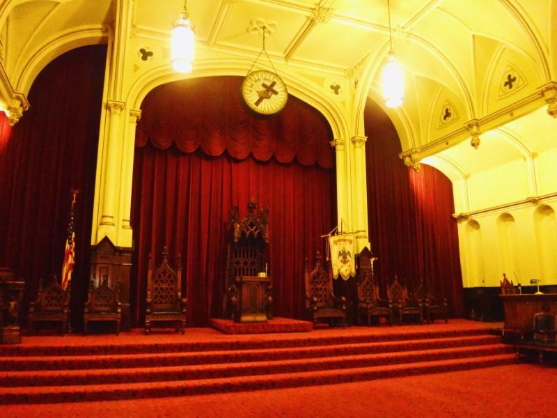 Salle gothique du Temple maçonnique de Philadelphie