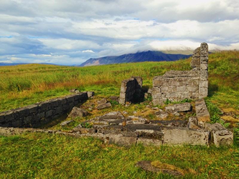 Ruins on Viðey Island