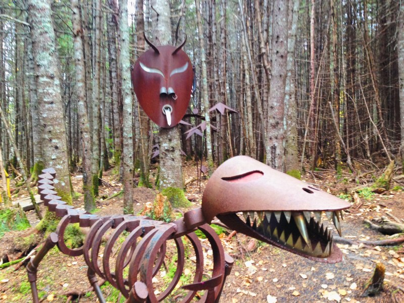Steel sculptures in Sept-Îles