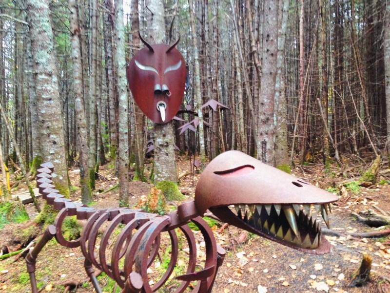 Steel sculptures in Sept-Îles