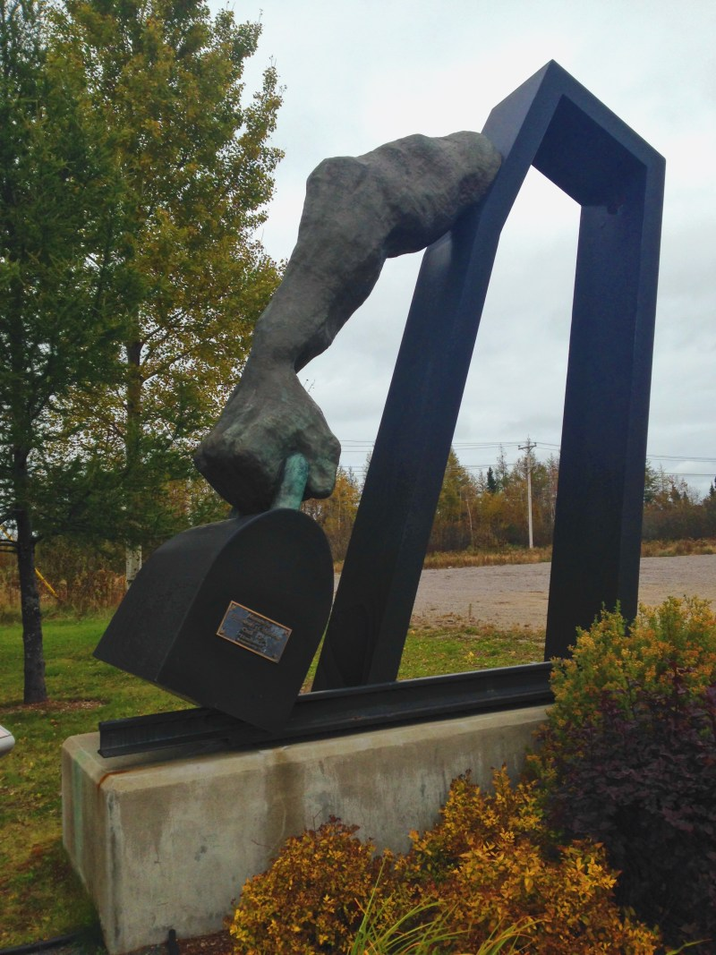 A sculpture in Clarke City