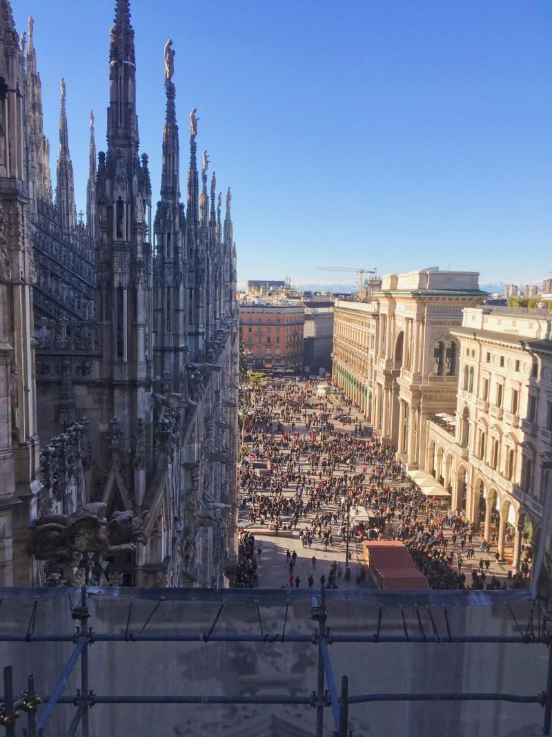 La piazza du Duomo à Milan