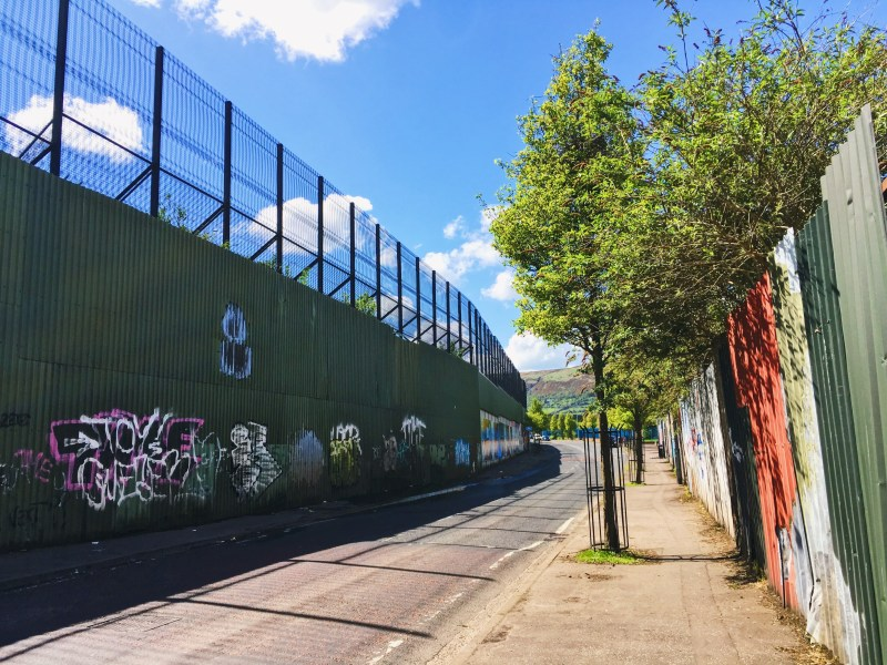 Peace Line of Belfast