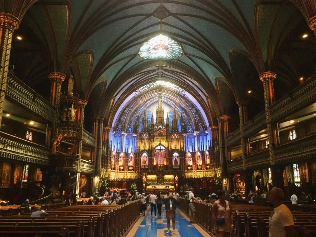 Une basilique, une cathédrale et quelques églises à Montréal