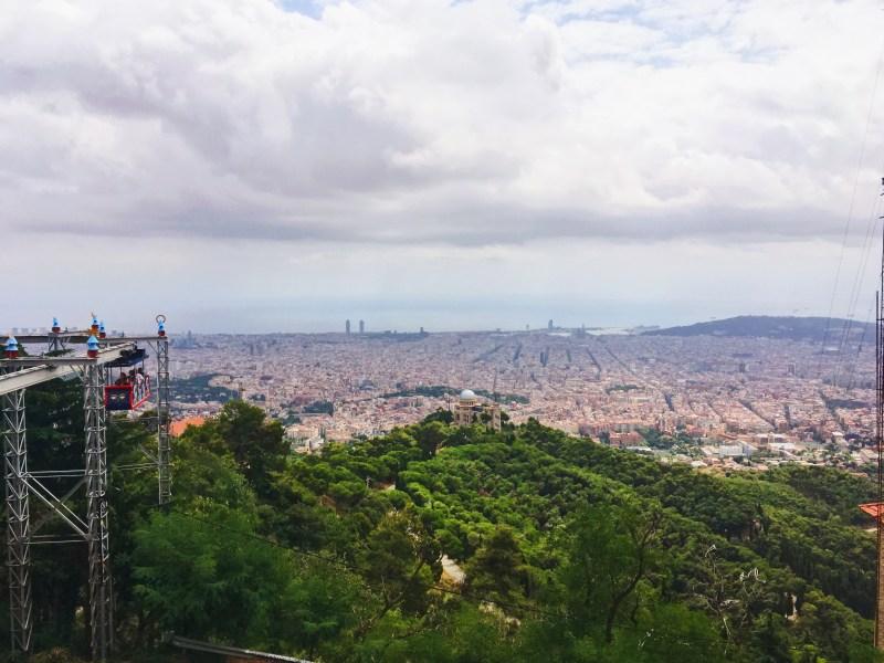 Barcelone depuis Tibidabo