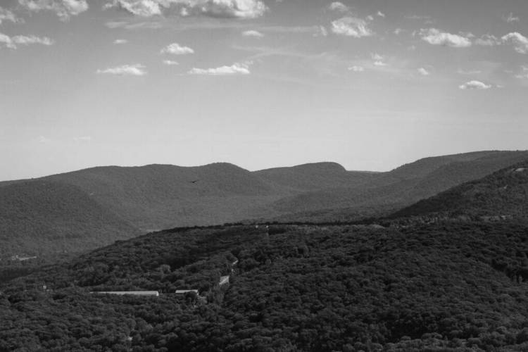 Hudson Valley Mountain Top in monochrome