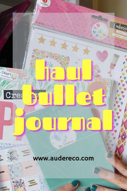 Haul Bullet Journal