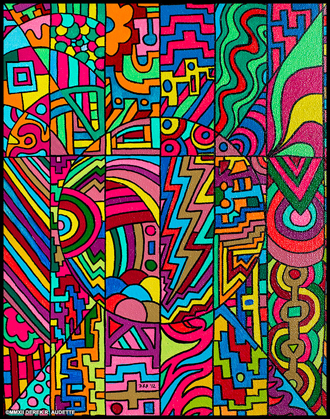 Categorical Circumstance (2012) Acrylic painting by Derek R. Audette