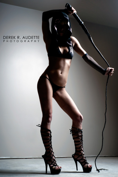 Woman Holding Bull-Whip - Photgraphy by Derek R. Audette