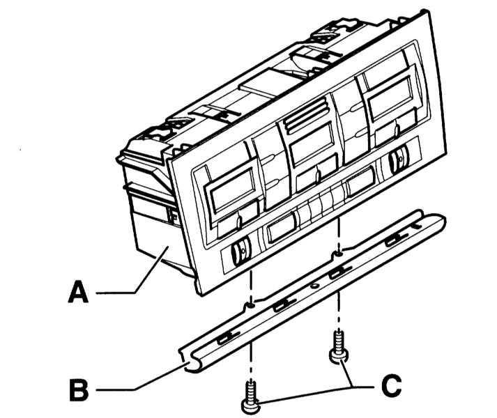 труха: снятие блока управлением отопителя audi a4
