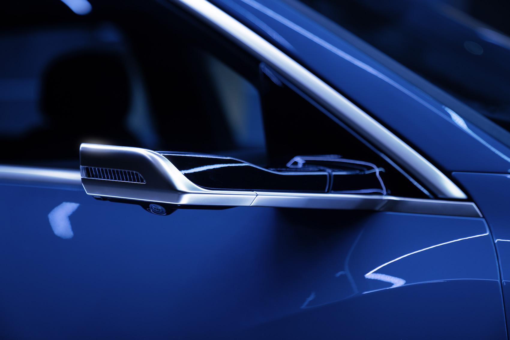 Die optionalen virtuellen Aussenspiegel sind Teil des ausgeklügelten Aerodynamik-Konzepts.