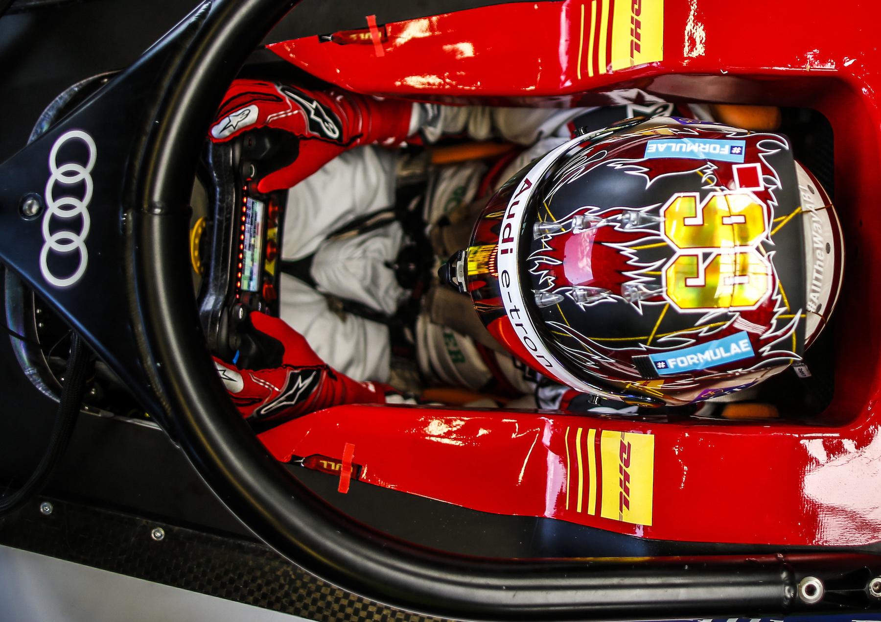Daniel Abt au volant de l'Audi e-tron FE05. (AUDI)