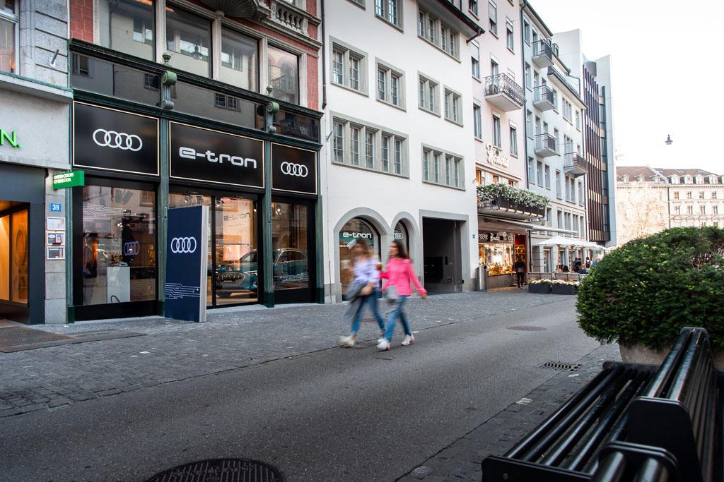 Il pop-up store sulla Rennweg di Zurigo. (Tom Lüthi)