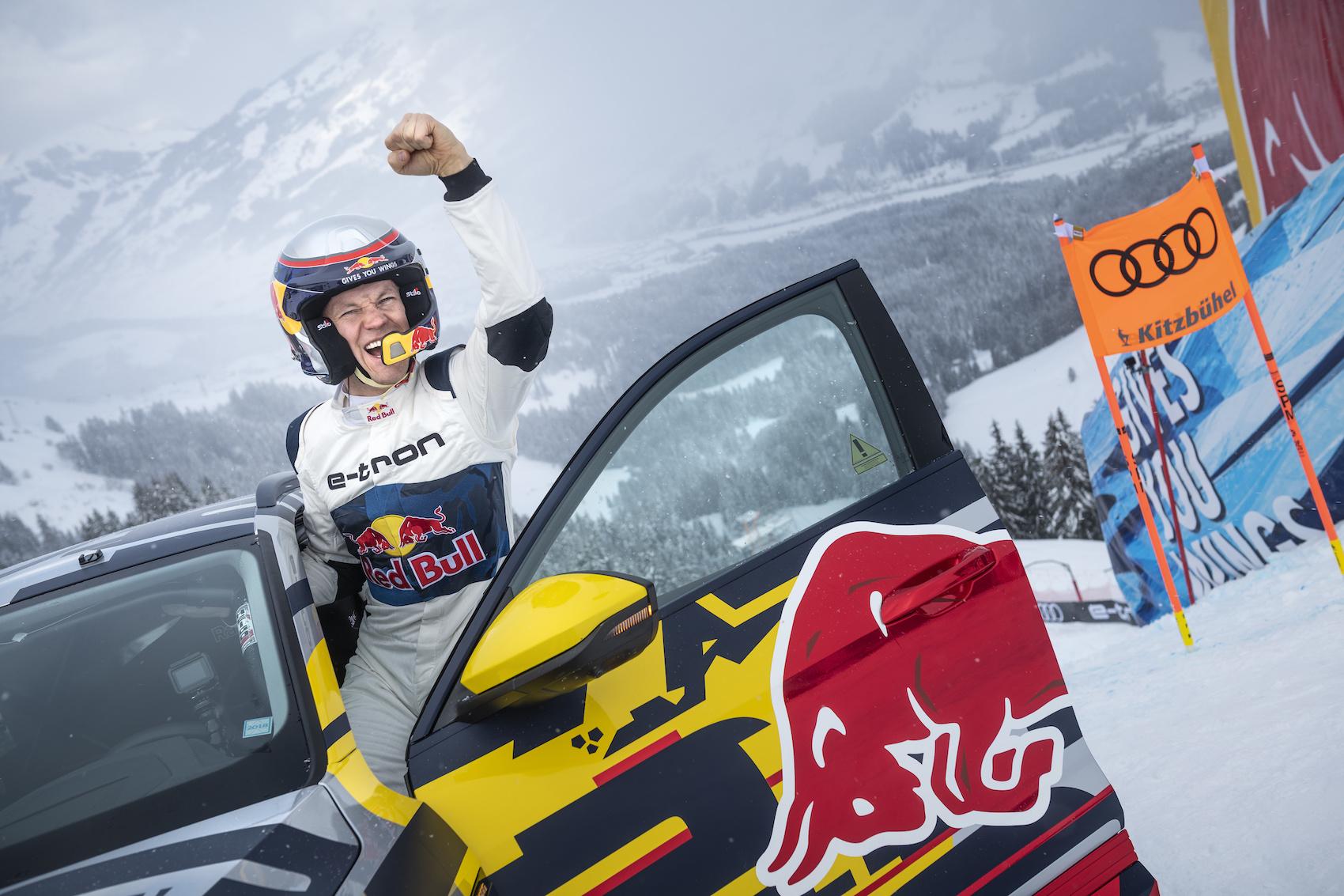 Rallycross-Weltmeister Mattias Ekström hat die «Mausefallen»-Challenge gemeistert. (Foto: AUDI)