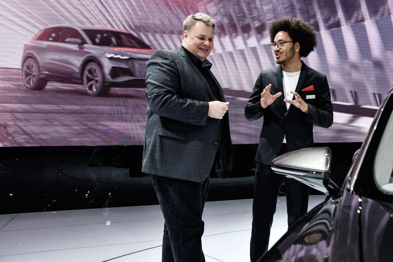 La science-fiction, bientôt réalité: Lars Thomsen au Salon de l'Auto de Genève.