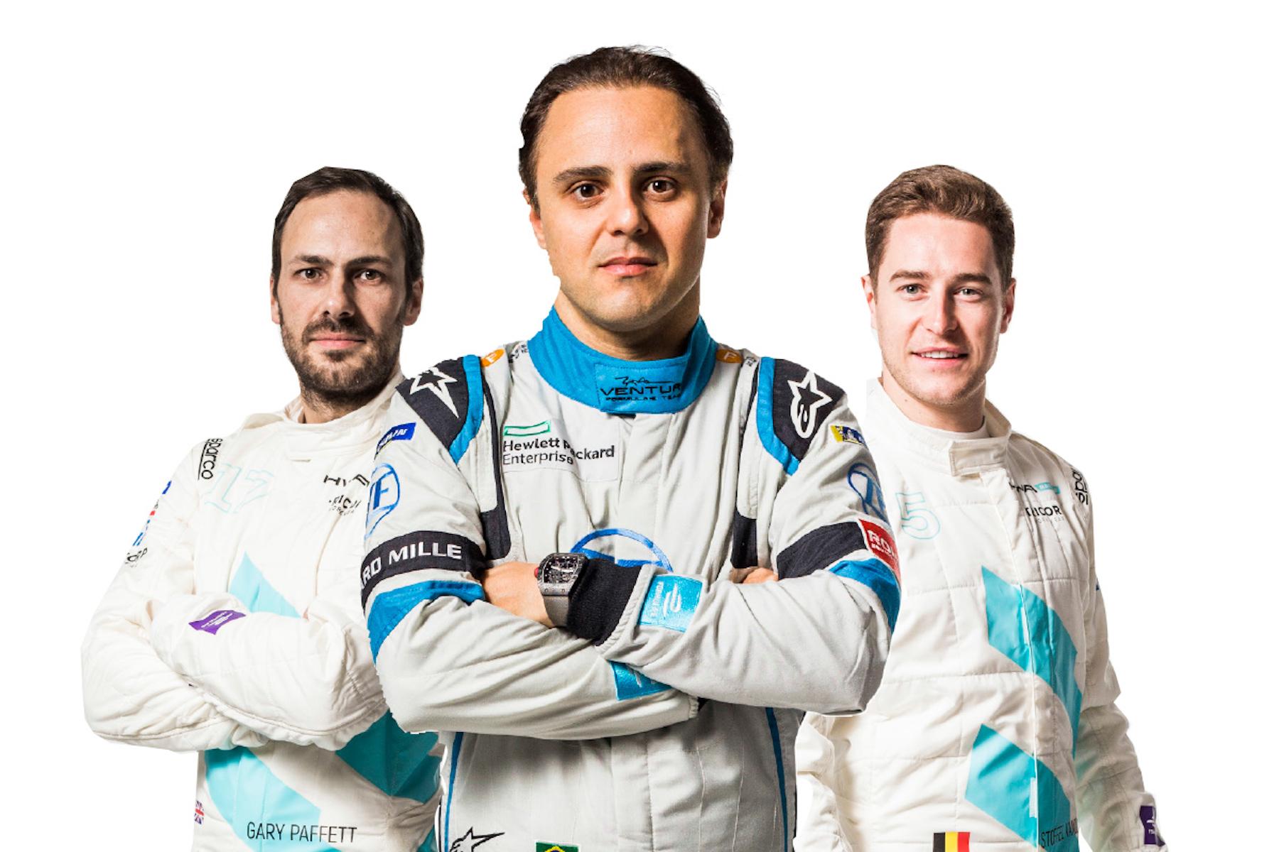 Sie sind neu dabei: Gary Paffett, Felipe Massa und Stoffel Vandoorne (von links nach rechts). (Formula E)