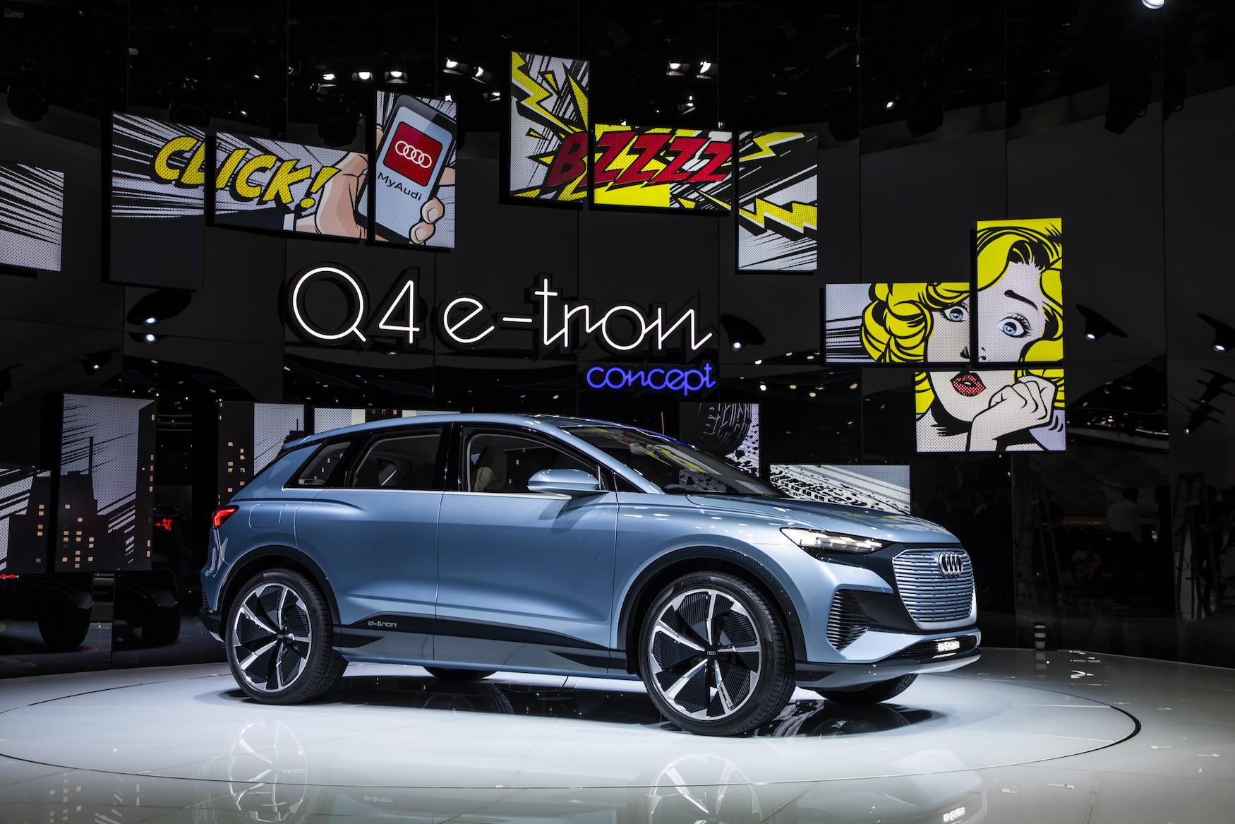 Le Q4e-tronconcept lors de la grande première du printemps au Salon de l'automobile de Genève. (AUDI)
