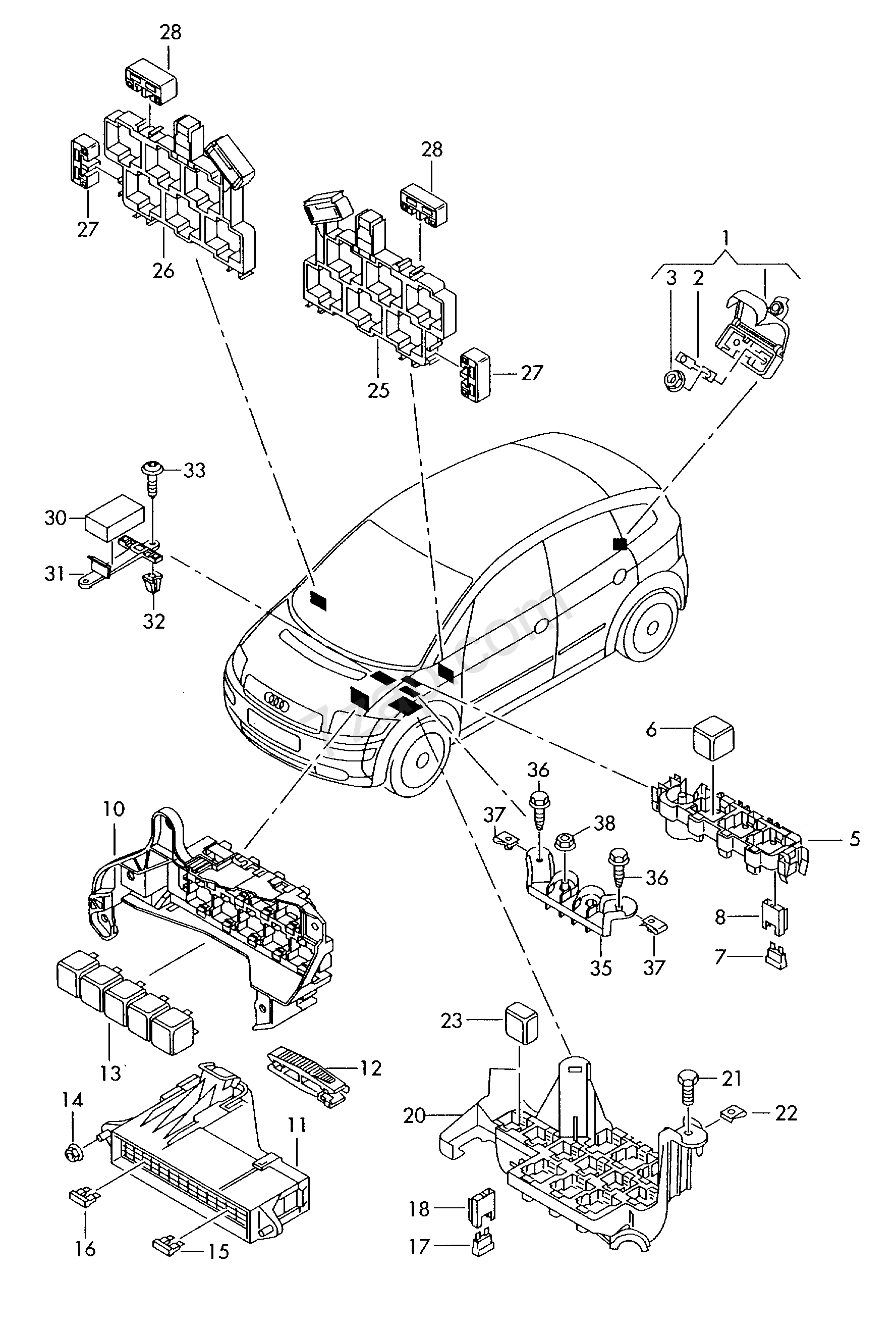 hight resolution of wiring connector audi a2 a2 europa 2005 year