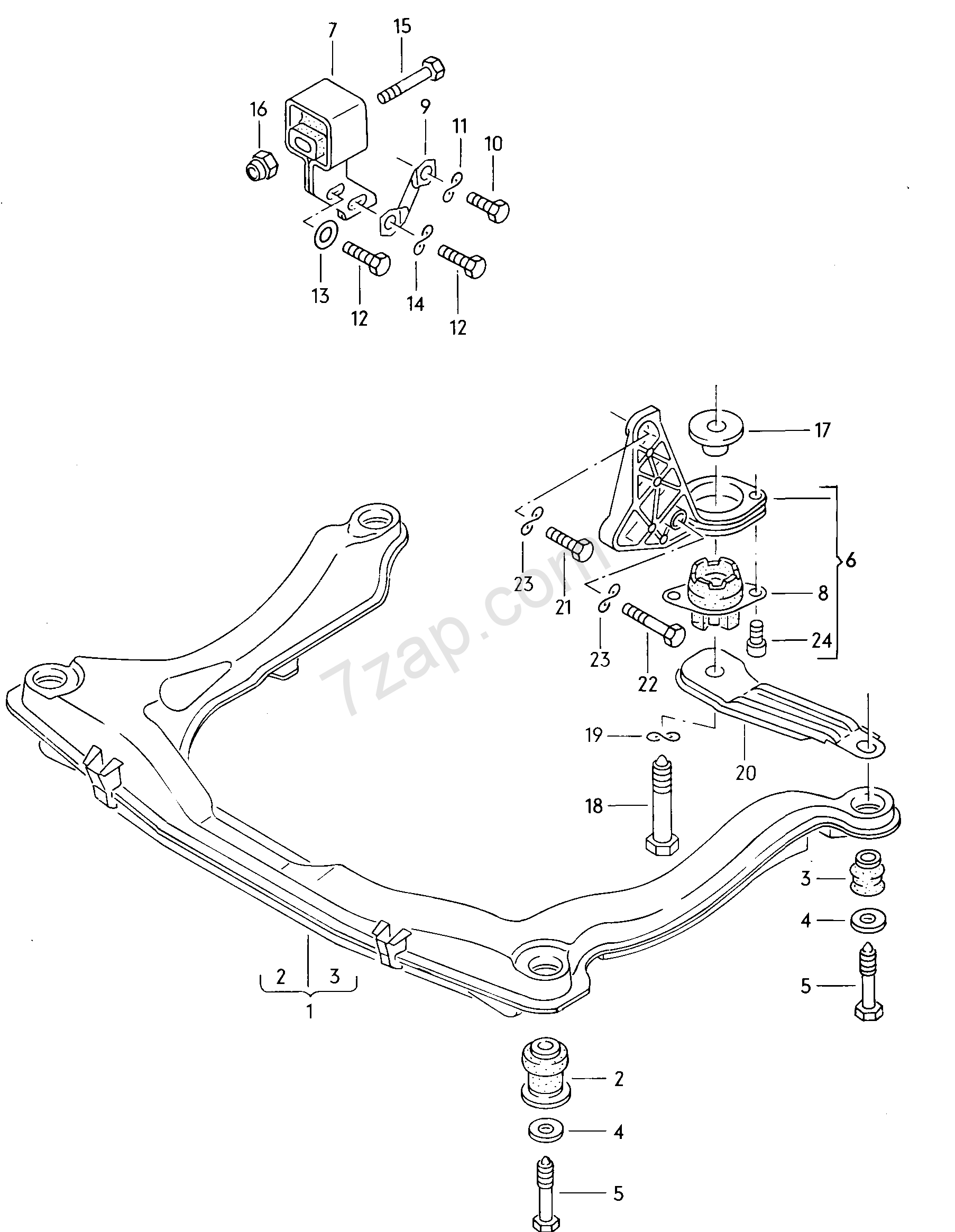 transmission securing parts Audi Coupe (ACO) 1987 year