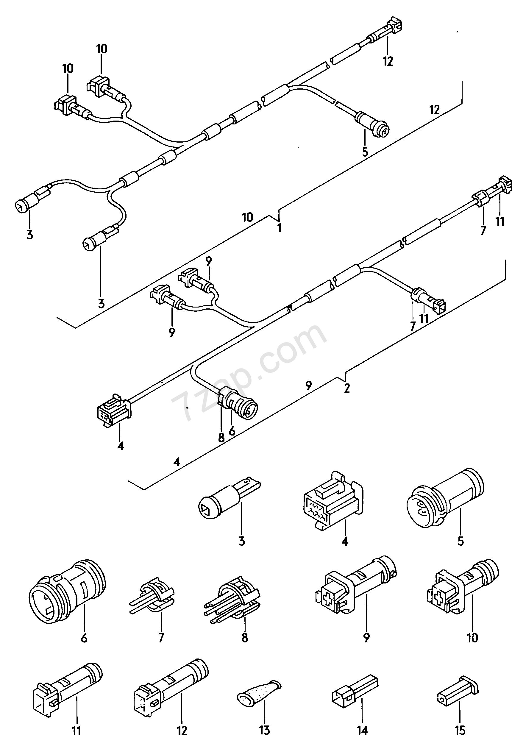 Wiring Harness For Differential Lock Warning Audi Quattro