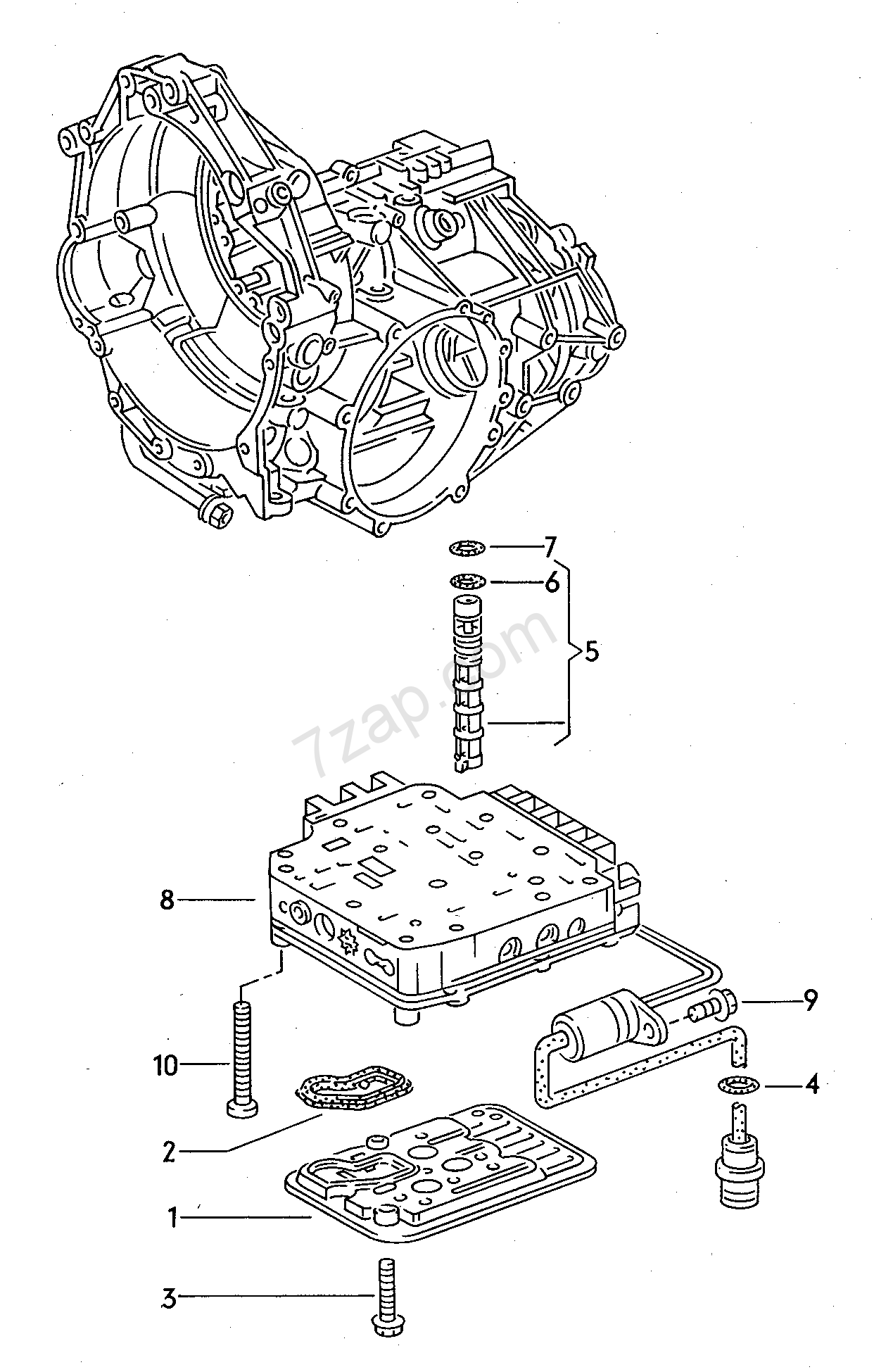 valve body; oil strainer; for 4-speed automatic ge... Audi