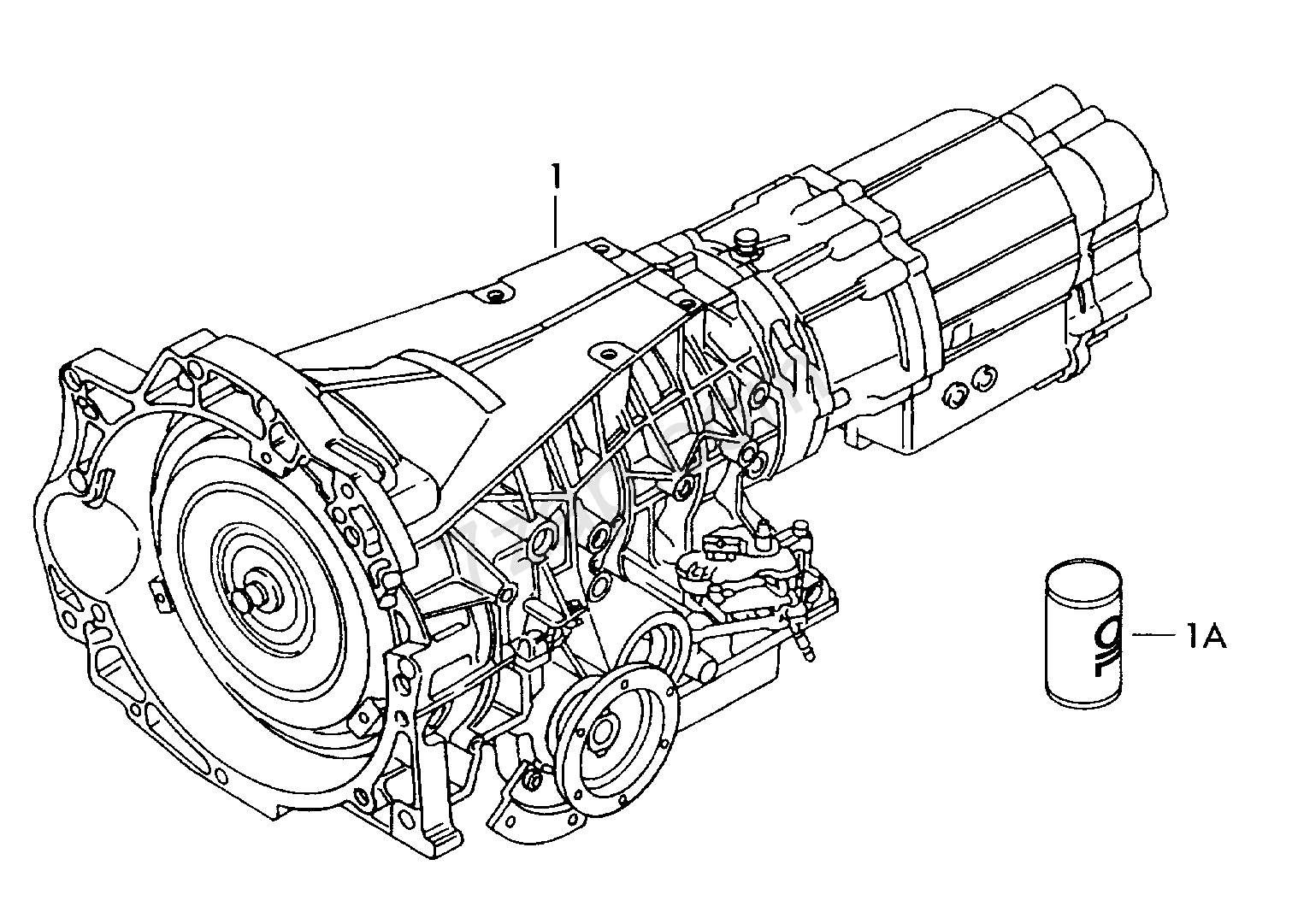 gearbox, complete; 4-speed automatic gearbox Audi 100