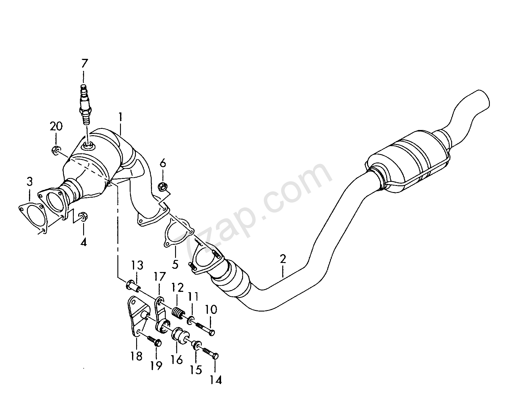 exhaust pipe with catalyst Audi A4/Avant (A4) 2010 year