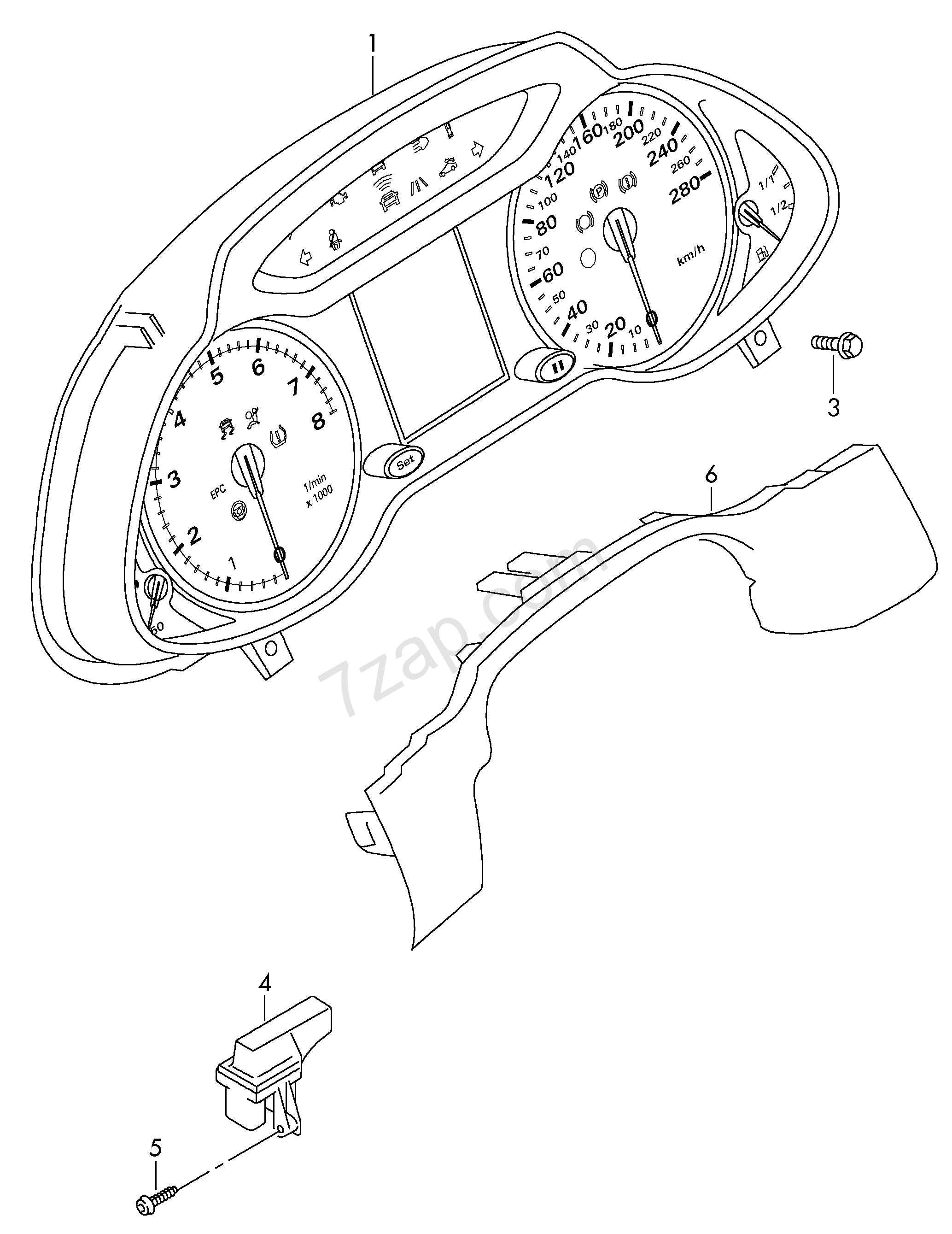 individual parts; receiver for radio-wave clock Audi Q5