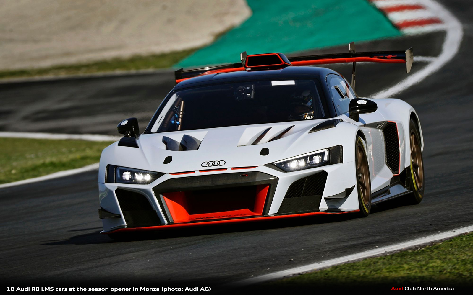 18 Audi R8 LMS Cars at the Season Opener in Monza