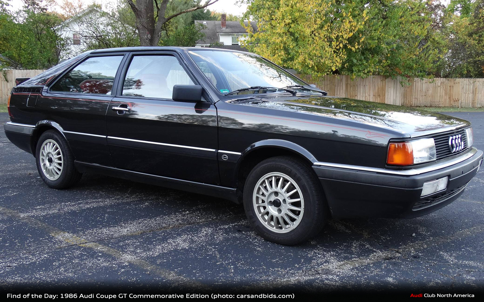 Find of the Day: 1986 Audi Coupe GT Commemorative Edition