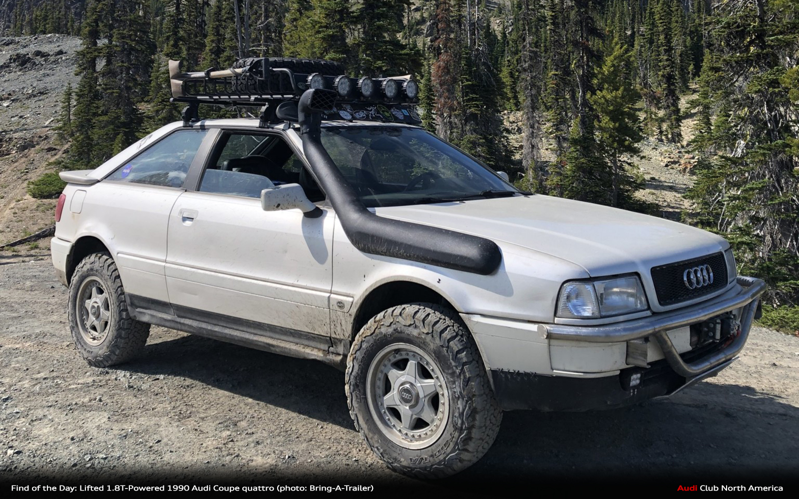 find of the day lifted 1 8t powered 1990 audi coupe quattro audi club north america lifted 1 8t powered 1990 audi coupe
