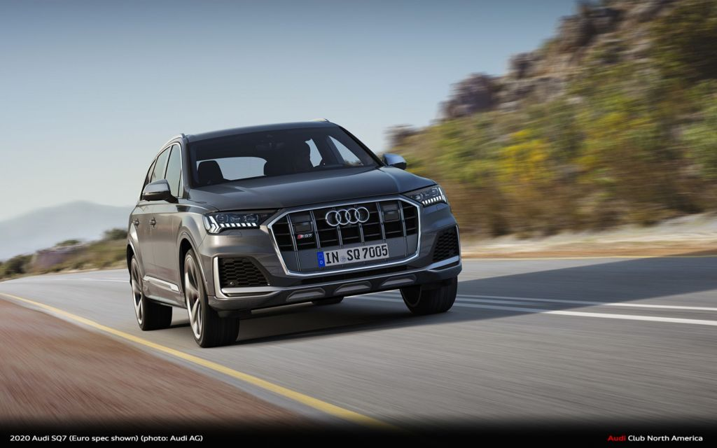 2020 Audi SQ7 Balances the Performance of a 500-Horsepower V8 Engine With Premium Seven-Passenger Practicality